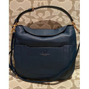 MARC JACOBS EMPIRE CITY LEATHER HOBO BAG (BLUE SEA)