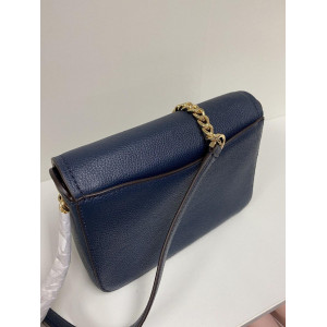 MICHAEL KORS WANDA SMALL CROSSBODY LEATHER (NAVY)