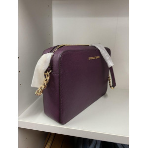 MICHAEL KORS JET SET ITEM LARGE EAST WEST CROSSBODY (DAMSON)