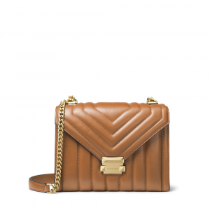 MICHAEL KORS WHITNEY LARGE QUILTED LEATHER CONVERTIBLE SHOULDER BAG (ACORN)