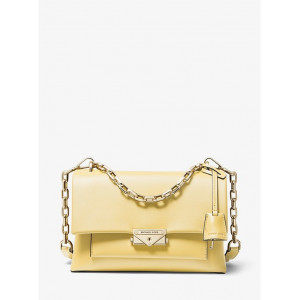 MICHAEL KORS CECE MEDIUM CHAIN SHOULDER LEATHER (BUTTERCUP)