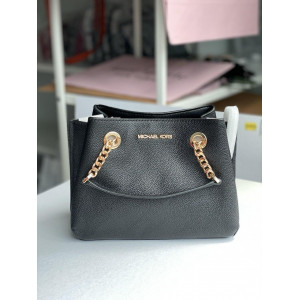 MICHAEL KORS TEAGEN SMALL MESSENGER (BLACK)