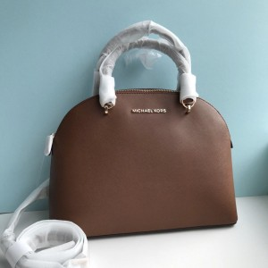 MICHAEL KORS EMMY LARGE DOME SATCHEL (LUGGAGE)