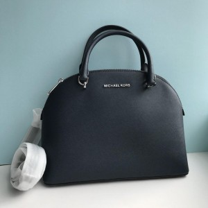 MICHAEL KORS EMMY LARGE DOME SATCHEL (NAVY)