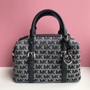 MICHAEL KORS GINGER SMALL DUFFLE SATCHEL (NAVY/MULTI)