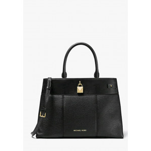 MICHAEL KORS GRAMERCY LARGE SATCHEL (BLACK)