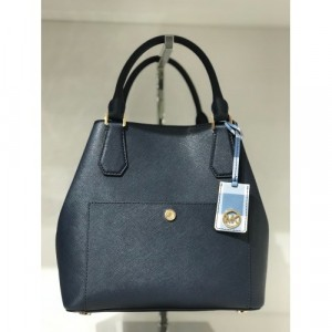 MICHAEL KORS GREENWICH LARGE GRAB BAG (NAVY/DENIM/WHITE)