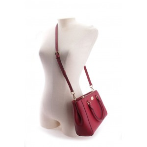 MICHAEL KORS KELLEN XS SATCHEL LEATHER (CHERRY)