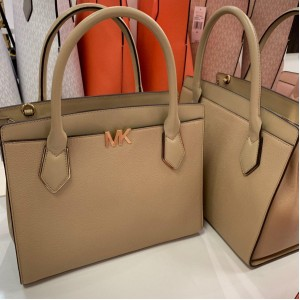 MICHAEL KORS MONTGOMERY LARGE SATCHEL (BISQUE)