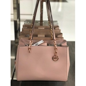 MICHAEL KORS SOFIA LARGE TOTE LEATHER (PALE PINK)