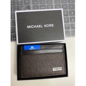 MICHAEL KORS JET SET MENS SIGNATURE CARD CASE IN GIFT BOX (BROWN)