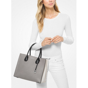MICHAEL KORS MERCER LARGE COLOR BLOCK SAFFIANO LEATHER TOTE BAG - ETA (ESTIMATED TIME ARRIVAL) MALAYSIA 9 FEBRUARY