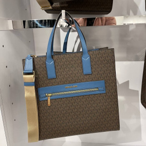 MICHAEL KORS KENLY LARGE NS TOTE (DK CHAMBRY MULTI)