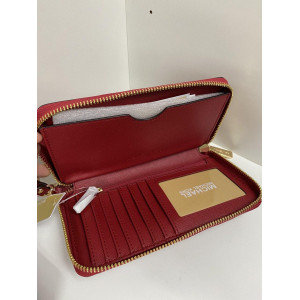MICHAEL KORS JET SET TRAVEL LARGE FLAT MF PHONE CASE (SCARLET)
