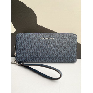 MICHAEL KORS JET SET TRAVEL CONTINENTAL WALLET IN SIGNATURE (NAVY)