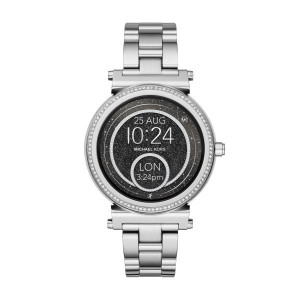 MICHAEL KORS SOFIA STAINLESS STEEL SMARTWATCH (SILVER)
