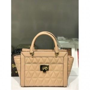 MICHAEL KORS VIVIANNE SMALL TZ MESSENGER LEATHER (OYSTER)